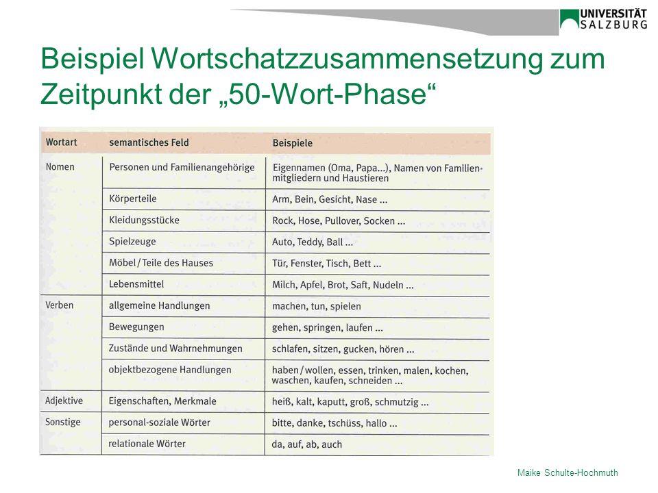 """Beispiel Wortschatzzusammensetzung zum Zeitpunkt der """"50-Wort-Phase"""