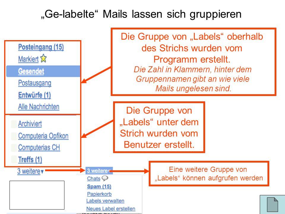"""""""Ge-labelte Mails lassen sich gruppieren"""