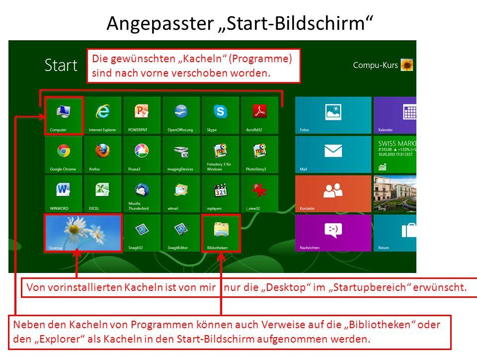 "Angepasster ""Start-Bildschirm"