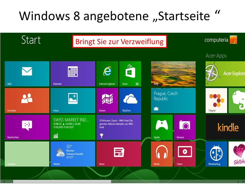 "Windows 8 angebotene ""Startseite"