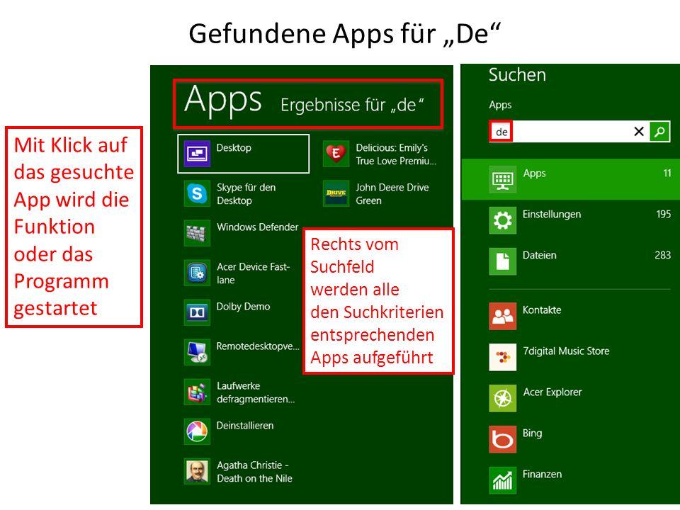 """Gefundene Apps für """"De"""