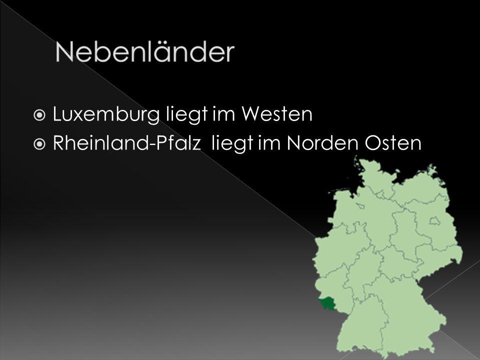 Nebenländer Luxemburg liegt im Westen