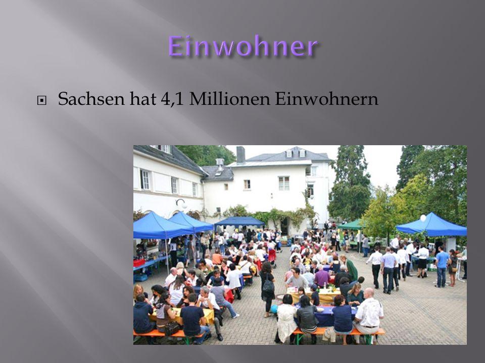 Einwohner Sachsen hat 4,1 Millionen Einwohnern
