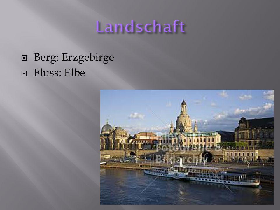 Landschaft Berg: Erzgebirge Fluss: Elbe