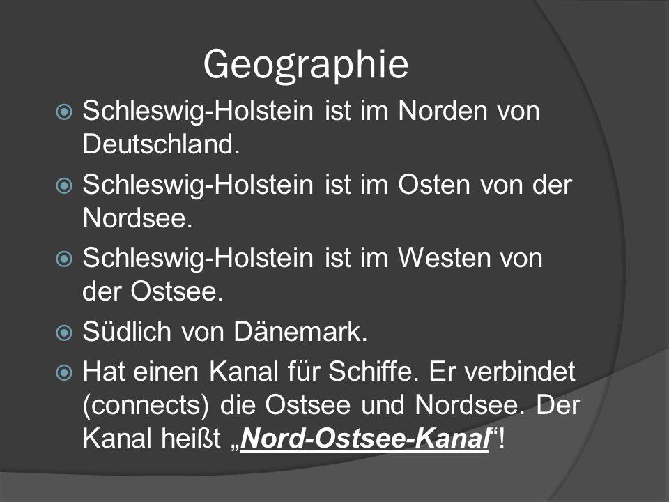 Geographie Schleswig-Holstein ist im Norden von Deutschland.