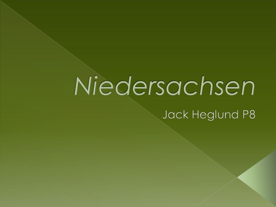 Niedersachsen Jack Heglund P8