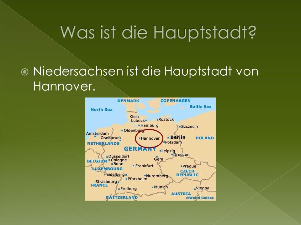Was ist die Hauptstadt Niedersachsen ist die Hauptstadt von Hannover.