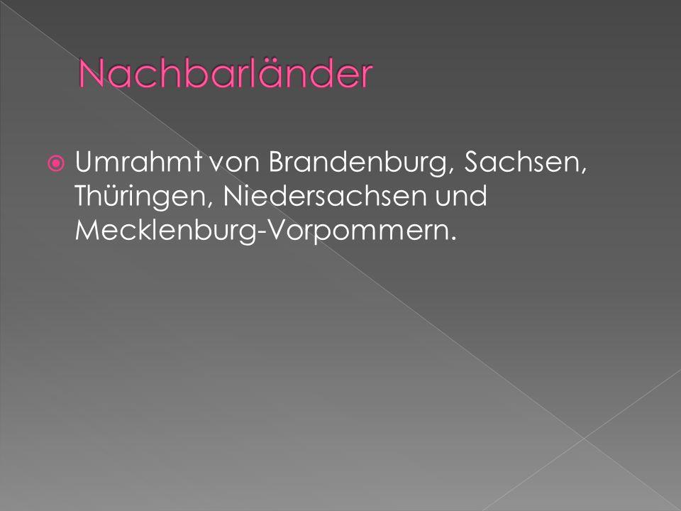 Nachbarländer Umrahmt von Brandenburg, Sachsen, Thüringen, Niedersachsen und Mecklenburg-Vorpommern.