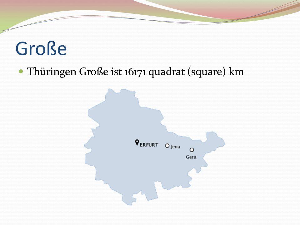 Große Thüringen Große ist 16171 quadrat (square) km