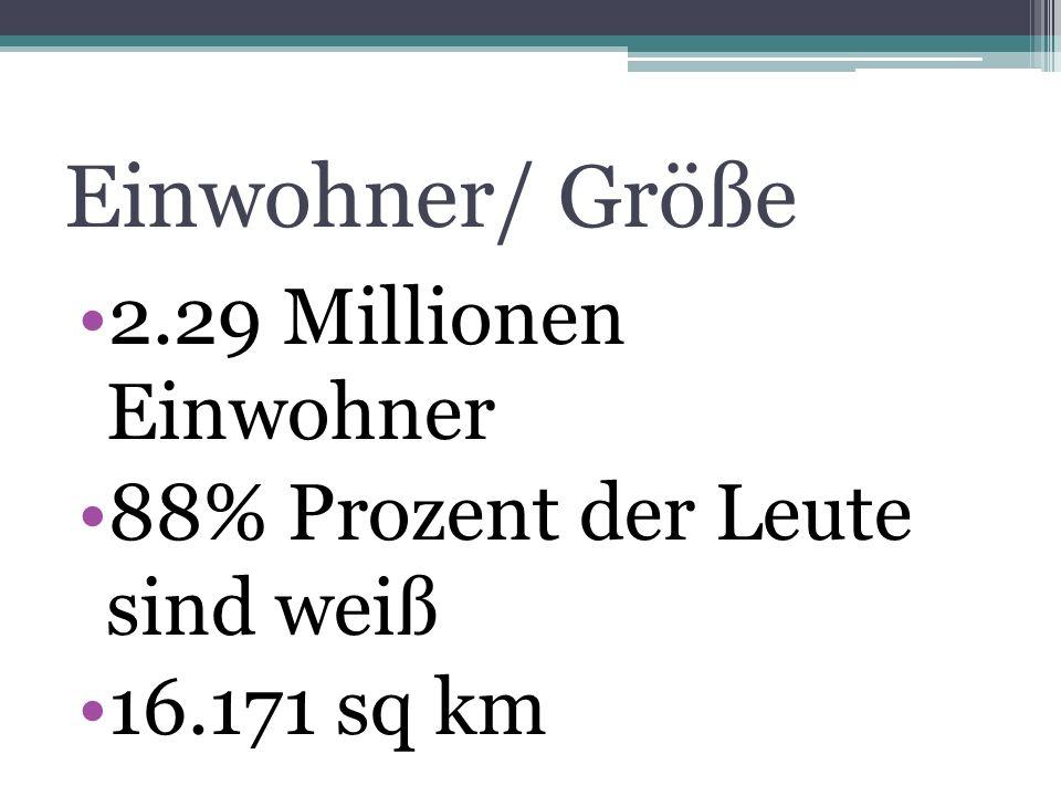 Einwohner/ Größe 2.29 Millionen Einwohner