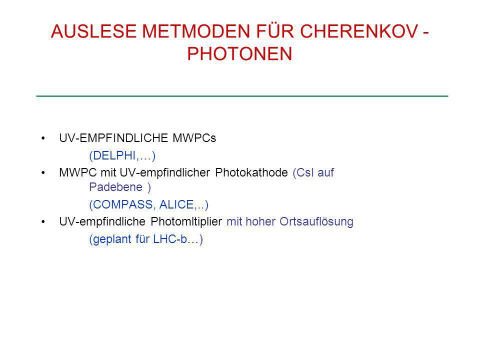 AUSLESE METMODEN FÜR CHERENKOV -PHOTONEN