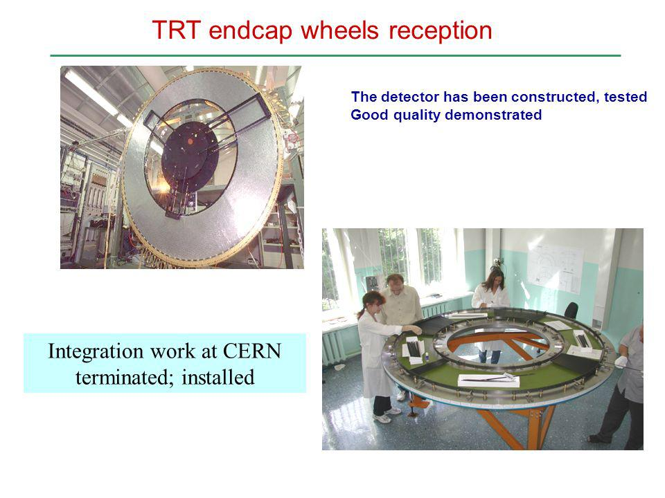 Integration work at CERN terminated; installed