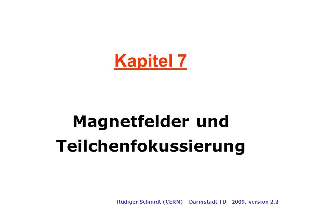 Magnetfelder und Teilchenfokussierung