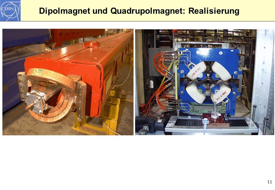 Dipolmagnet und Quadrupolmagnet: Realisierung