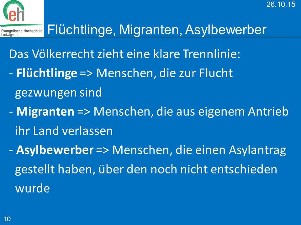 26.10.15 Flüchtlinge, Migranten, Asylbewerber