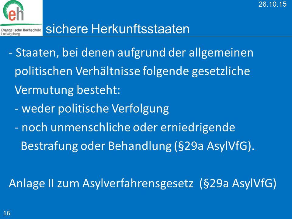 26.10.15 sichere Herkunftsstaaten