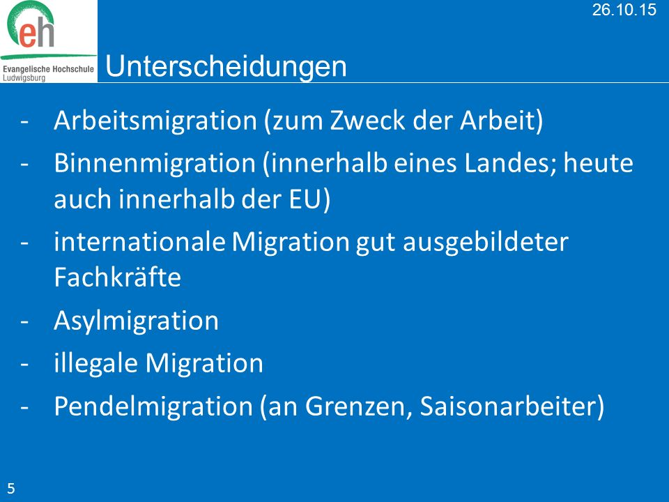 Arbeitsmigration (zum Zweck der Arbeit)