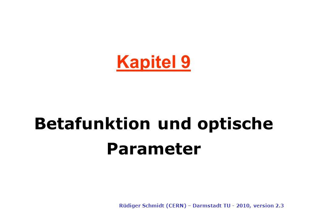 Betafunktion und optische Parameter