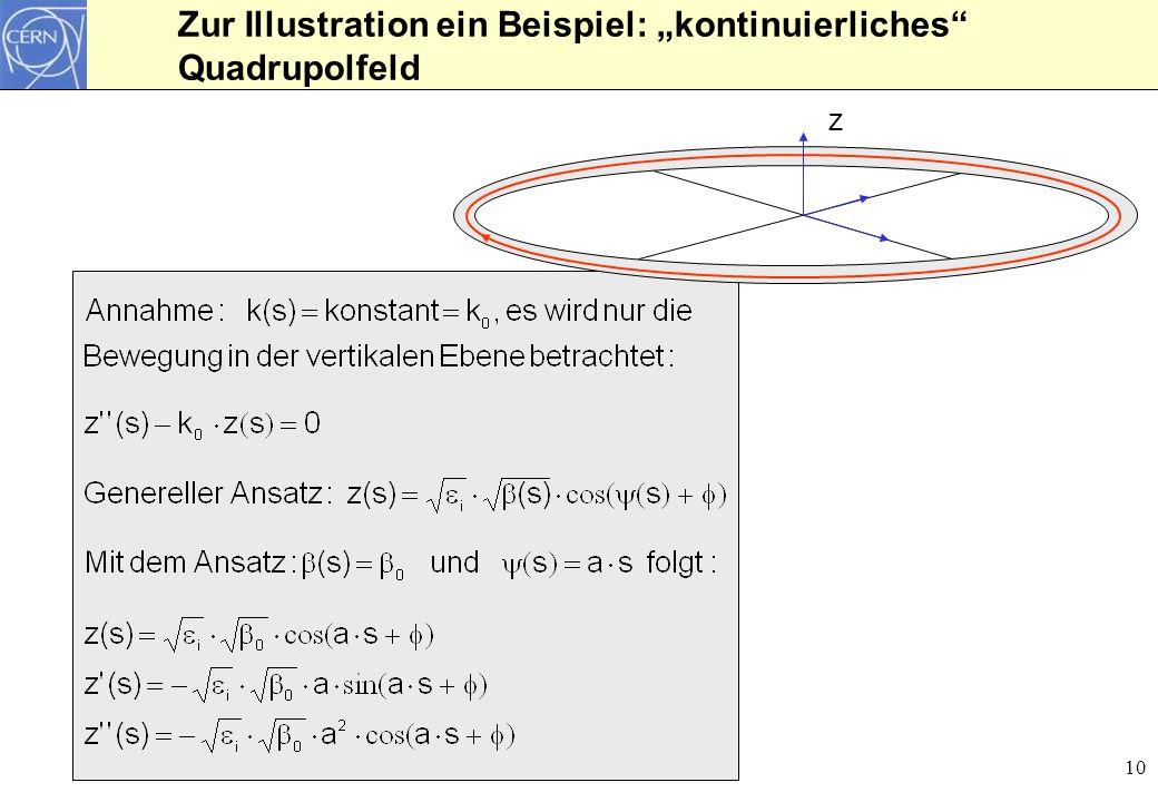 """Zur Illustration ein Beispiel: """"kontinuierliches Quadrupolfeld"""