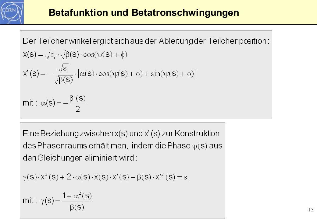 Betafunktion und Betatronschwingungen