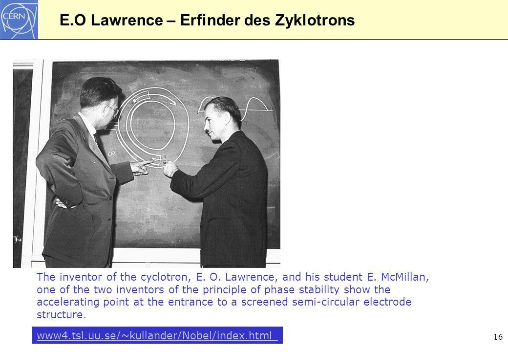 E.O Lawrence – Erfinder des Zyklotrons