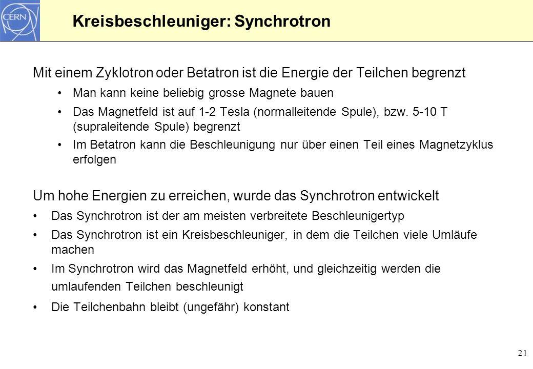 Kreisbeschleuniger: Synchrotron