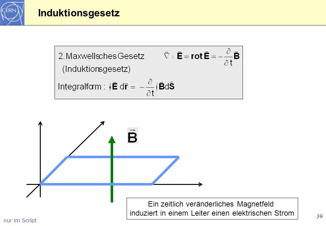 Induktionsgesetz Ein zeitlich veränderliches Magnetfeld