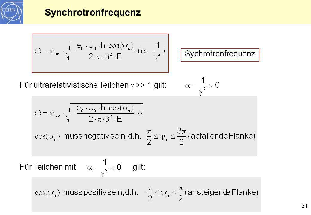 Synchrotronfrequenz Sychrotronfrequenz