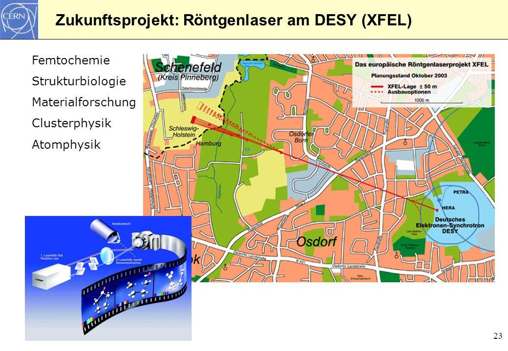 Zukunftsprojekt: Röntgenlaser am DESY (XFEL)