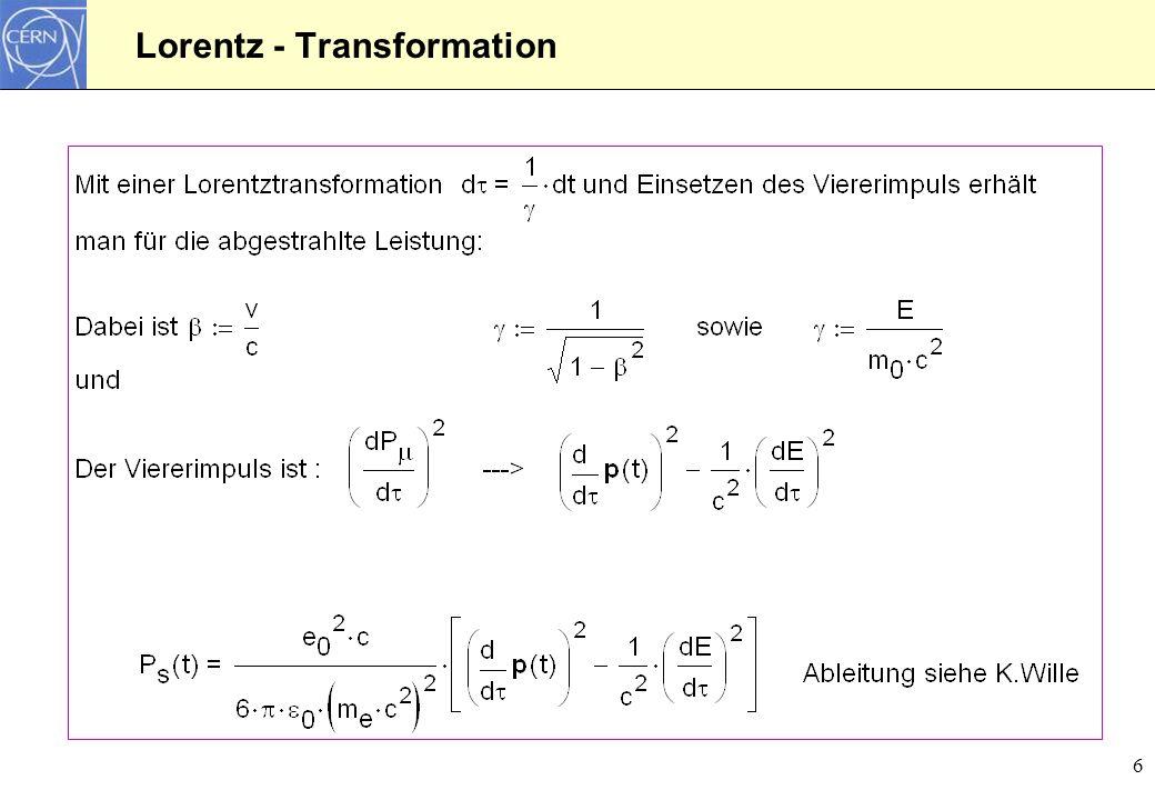 Lorentz - Transformation