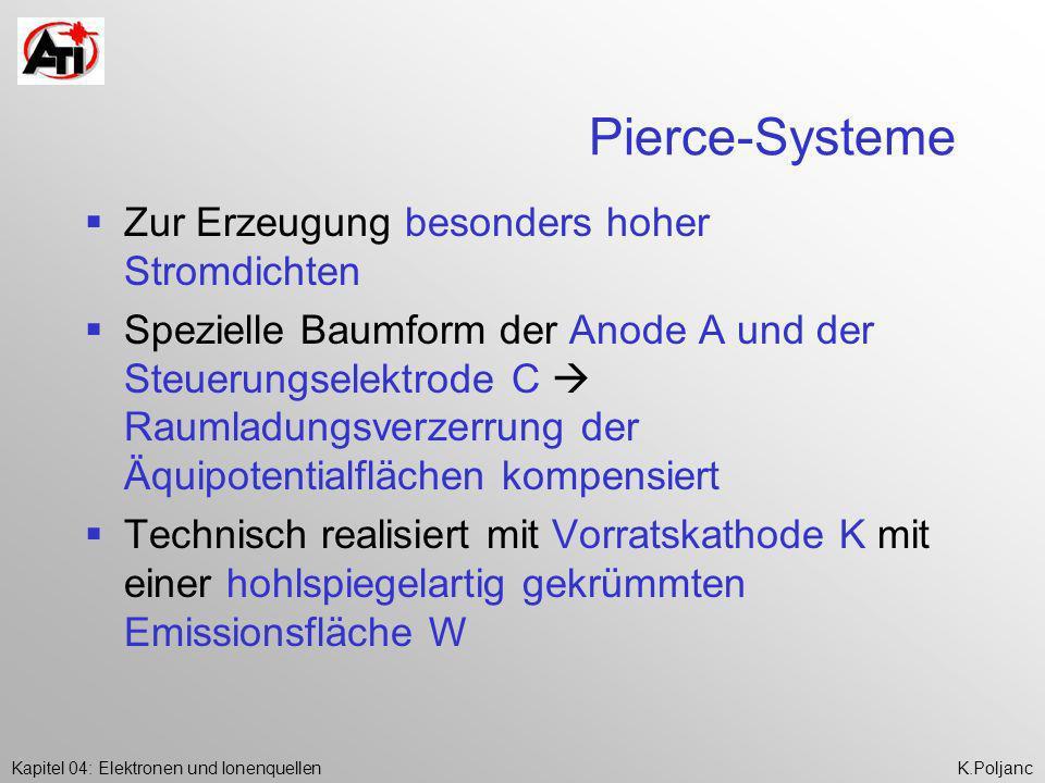 Pierce-Systeme Zur Erzeugung besonders hoher Stromdichten
