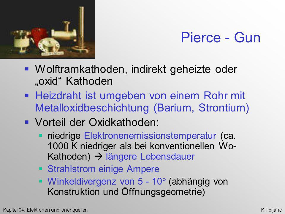 """Pierce - Gun Wolftramkathoden, indirekt geheizte oder """"oxid Kathoden"""