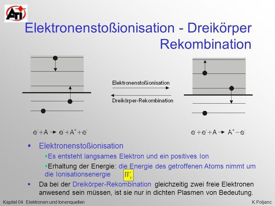 Elektronenstoßionisation - Dreikörper Rekombination