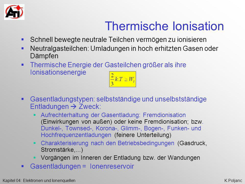 Thermische Ionisation
