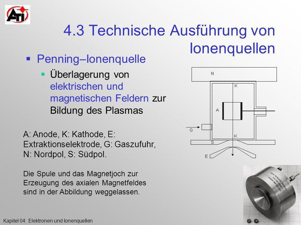 4.3 Technische Ausführung von Ionenquellen