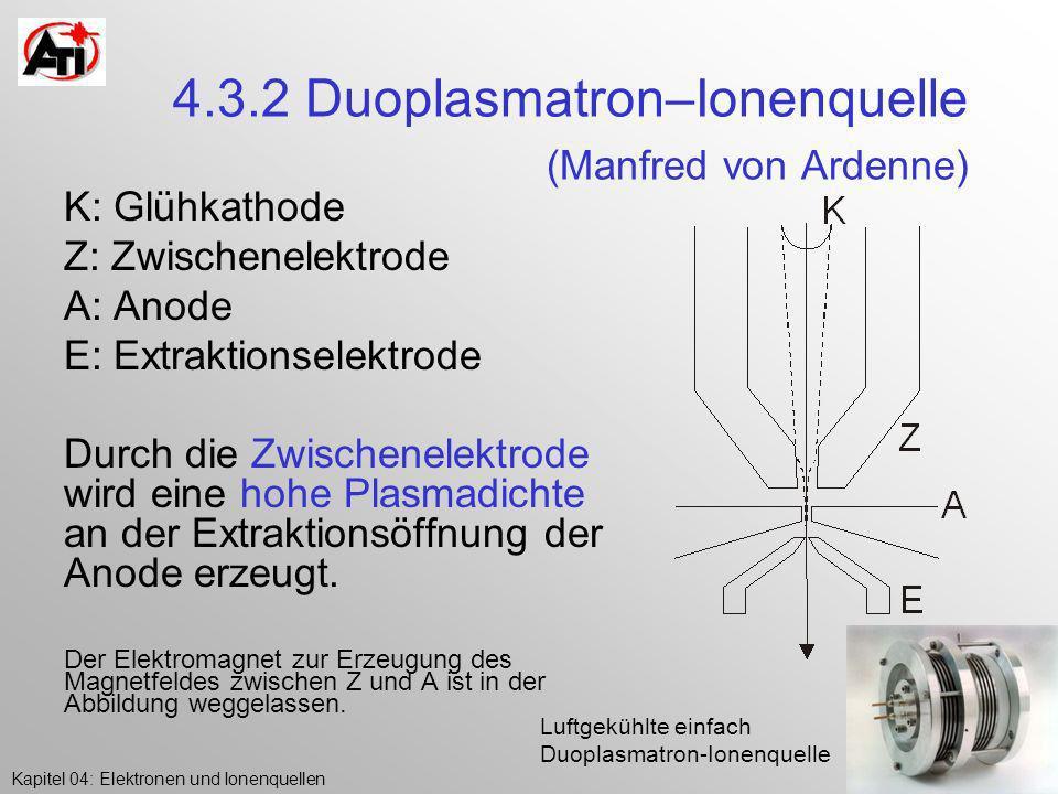 4.3.2 Duoplasmatron–Ionenquelle (Manfred von Ardenne)