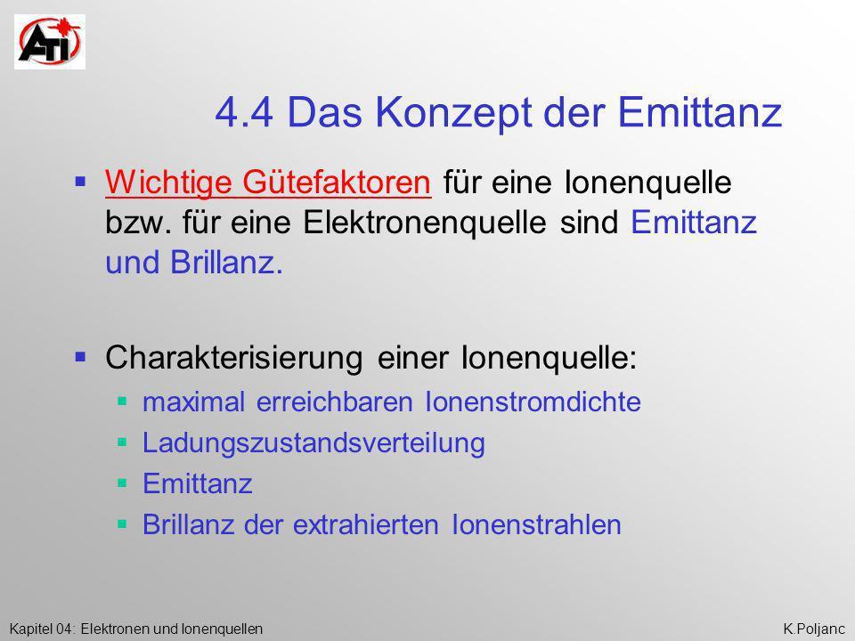 4.4 Das Konzept der Emittanz