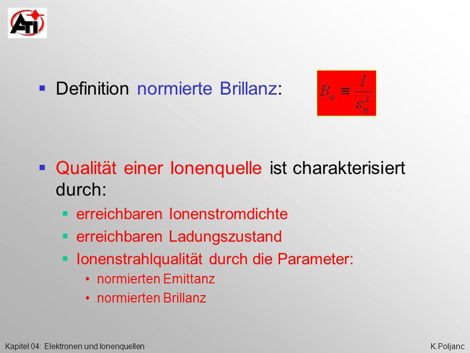 Definition normierte Brillanz: