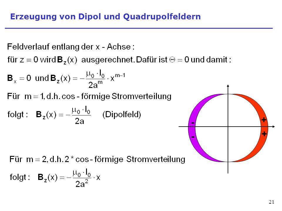 Erzeugung von Dipol und Quadrupolfeldern