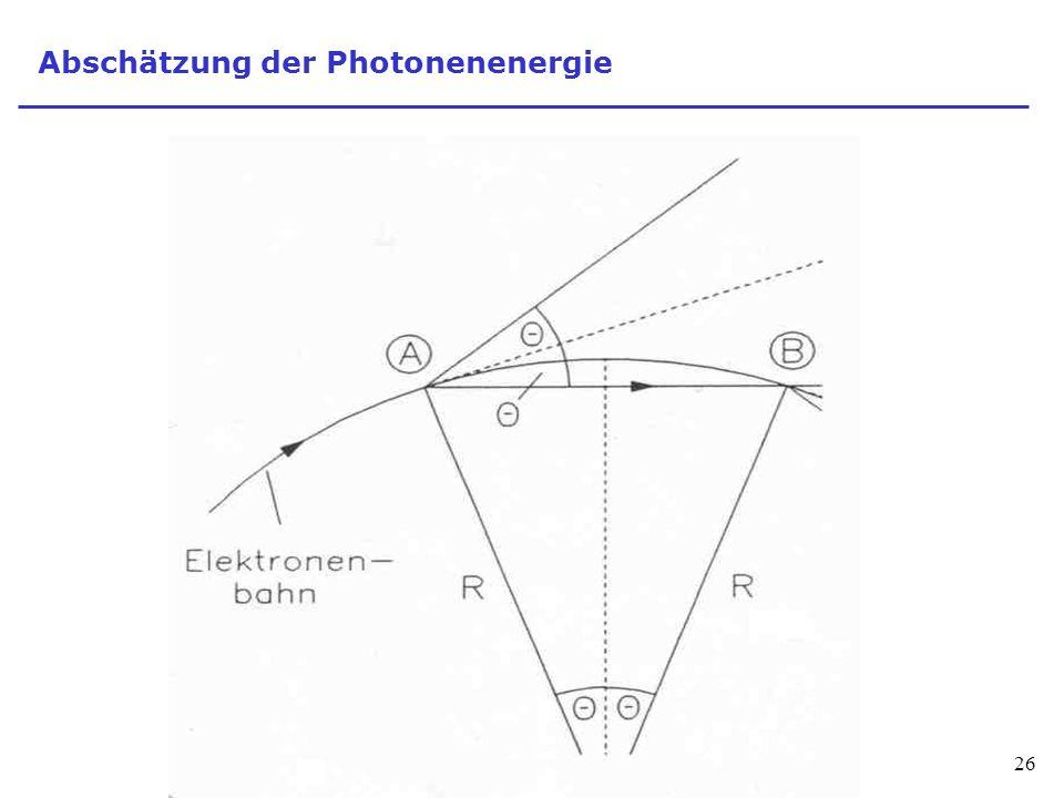 Abschätzung der Photonenenergie