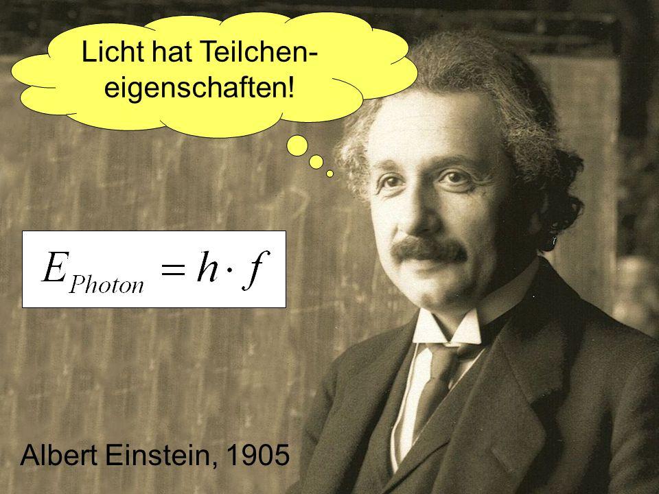 Licht hat Teilchen-eigenschaften!