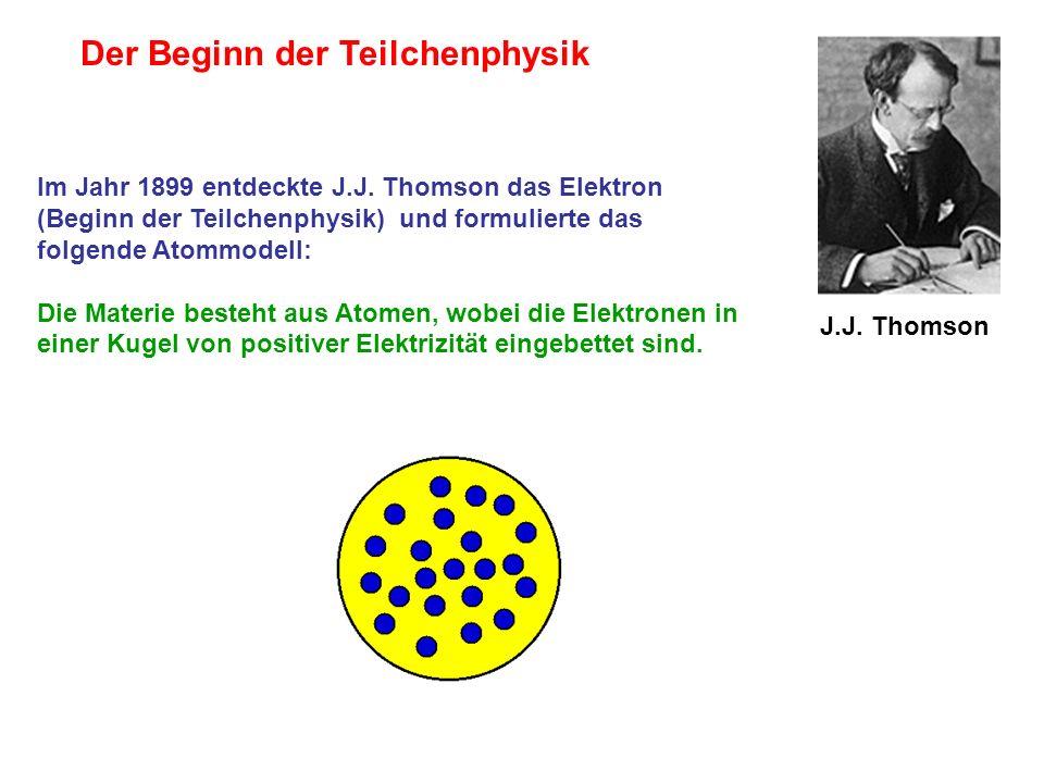 Der Beginn der Teilchenphysik