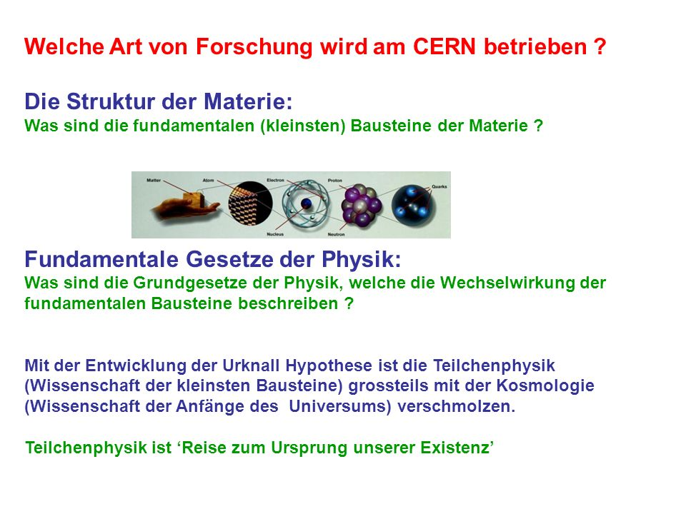 Welche Art von Forschung wird am CERN betrieben