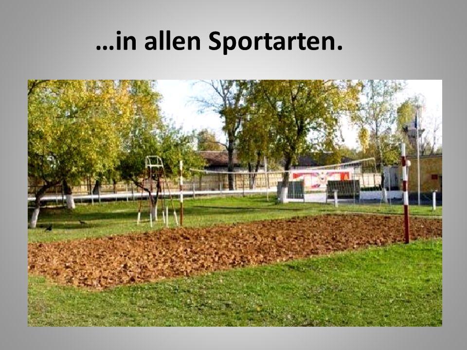 …in allen Sportarten.
