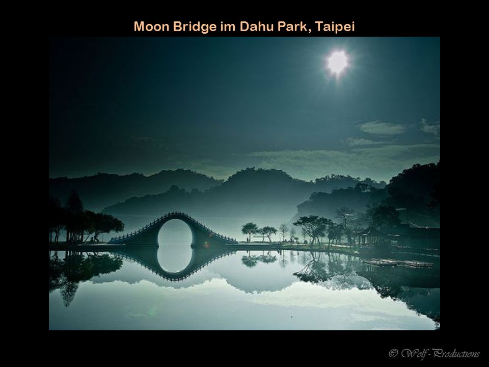 Moon Bridge im Dahu Park, Taipei