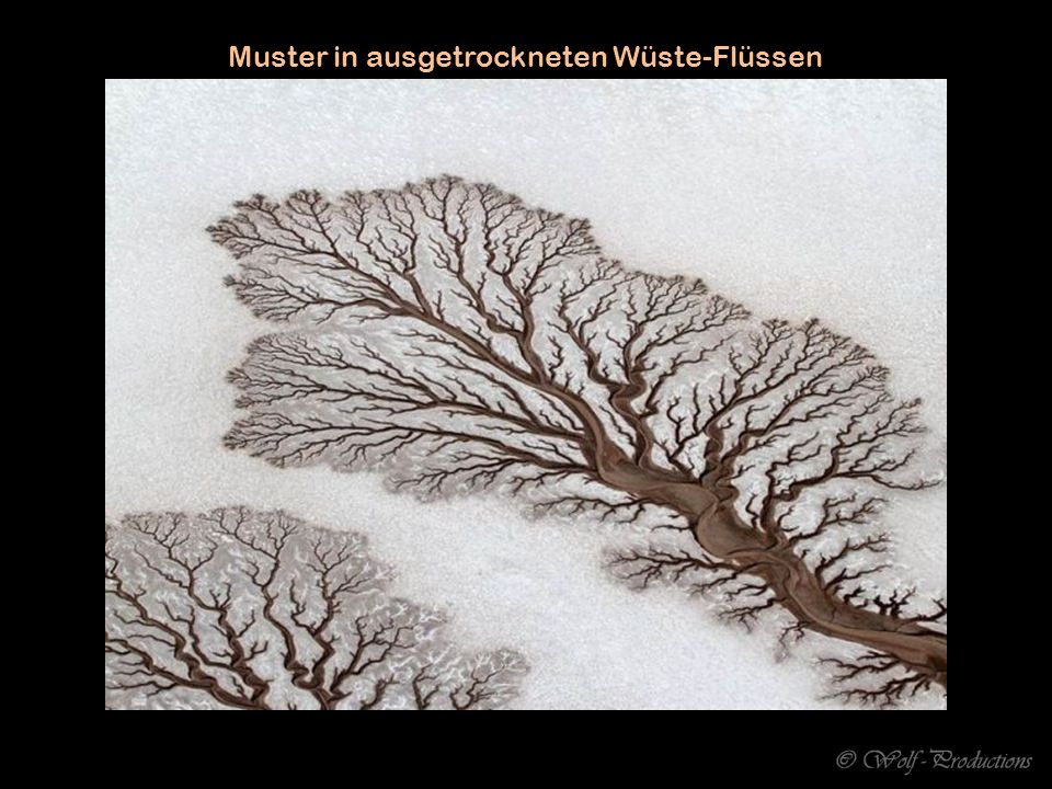 Muster in ausgetrockneten Wüste-Flüssen