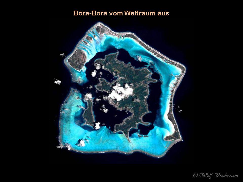 Bora-Bora vom Weltraum aus