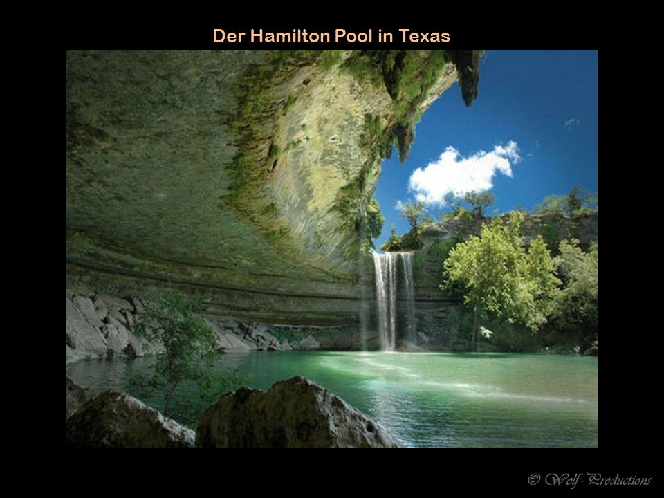 Der Hamilton Pool in Texas
