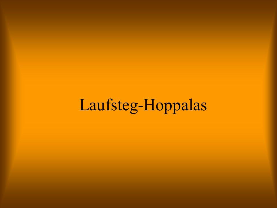 Laufsteg-Hoppalas