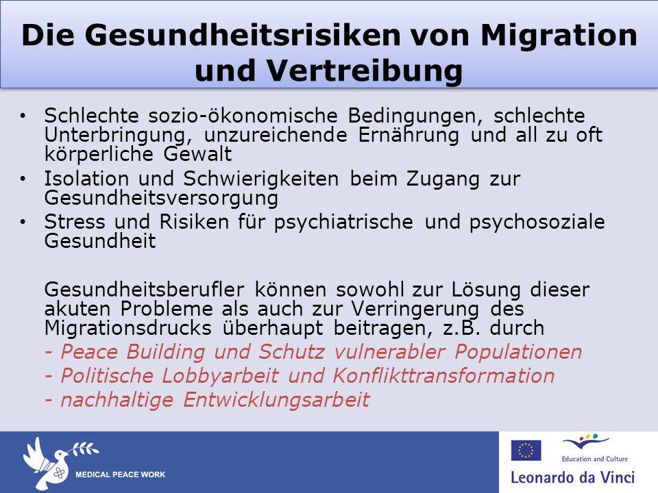 Die Gesundheitsrisiken von Migration und Vertreibung